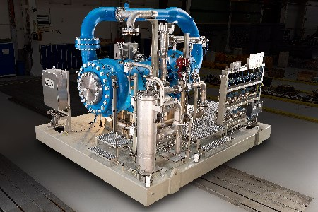 MAN compressors used for natural gas transportation