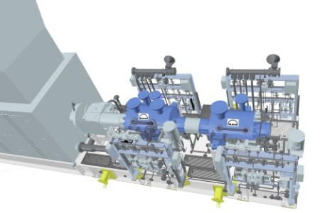 MAN compressor trains used for gas project
