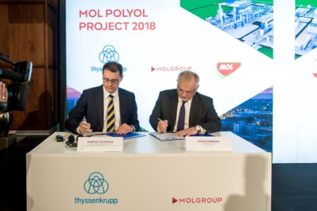 MOL reaches decision on polyol project, signs EPC contracts with thyssenkrupp