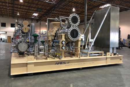 L. A. Turbine ships its first ARES active magnetic bearing turboexpander-compressor
