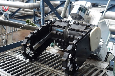 MHI conducts running test of explosion-proof plant inspection robot EX ROVR