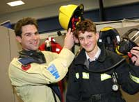 Gethin Jones helped youngsters 'Energise their Future' at a recent careers event in Norwich